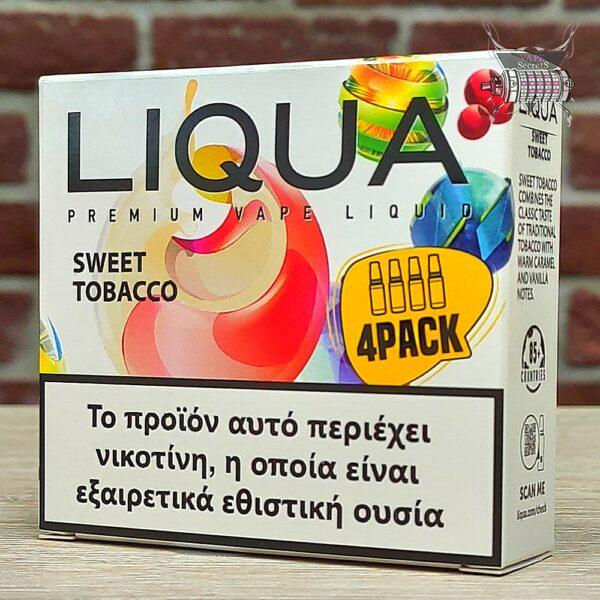 Sweet Tobacco 4PACK by Liqua (καπνός, βανίλια, καραμέλα)